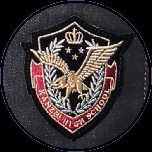 関西のシンボル「鷲」刺繍
