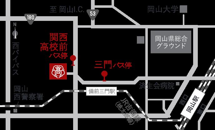 バスでのアクセス図