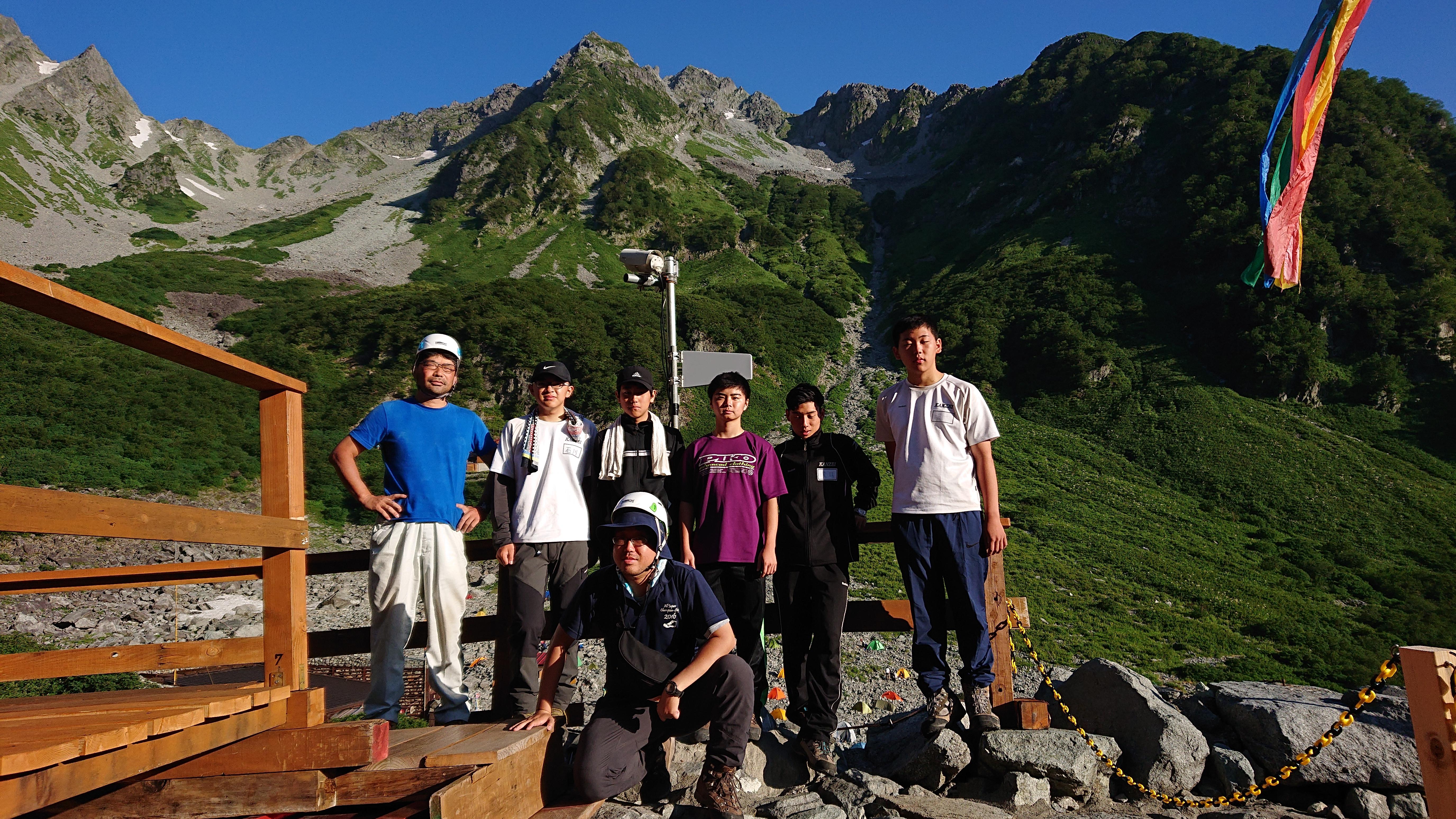 スキー山岳部の夏合宿