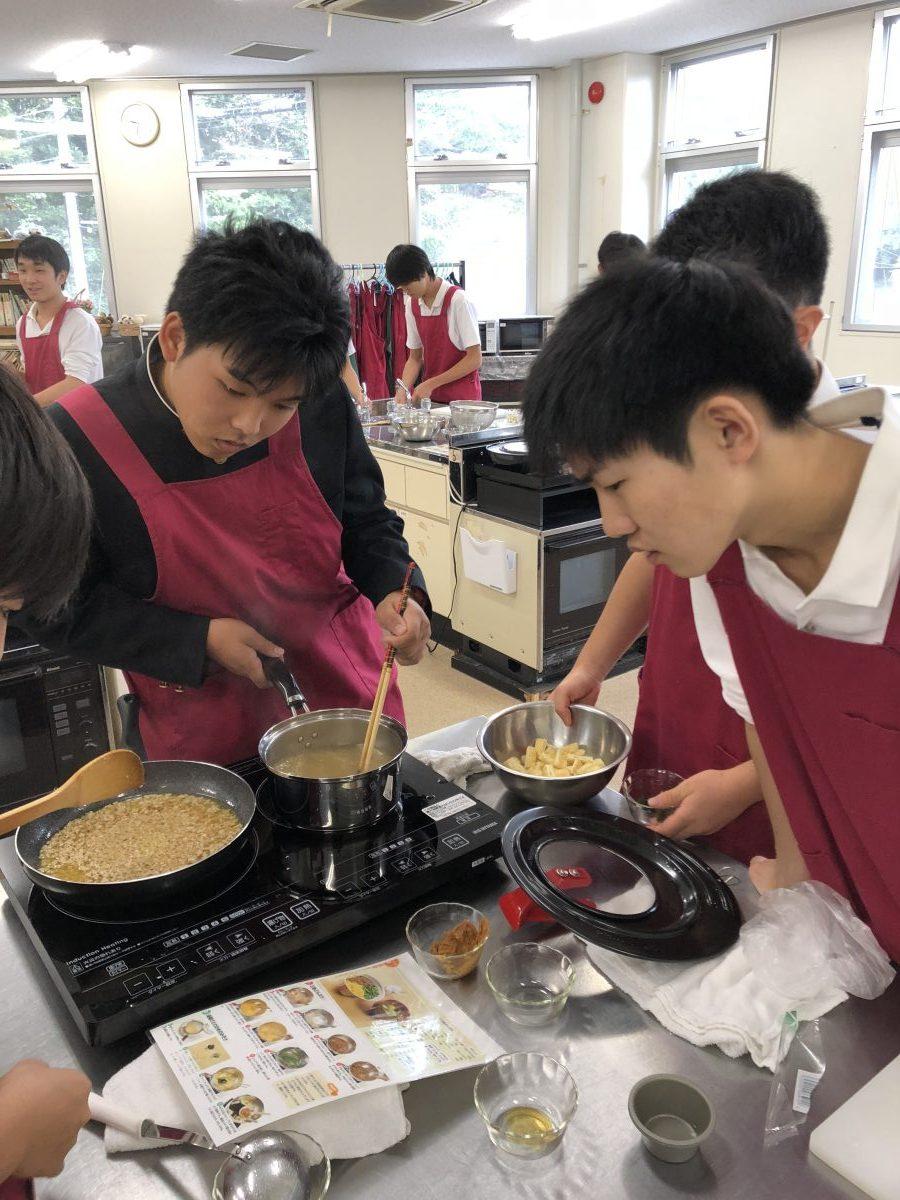 調理実習始まりました