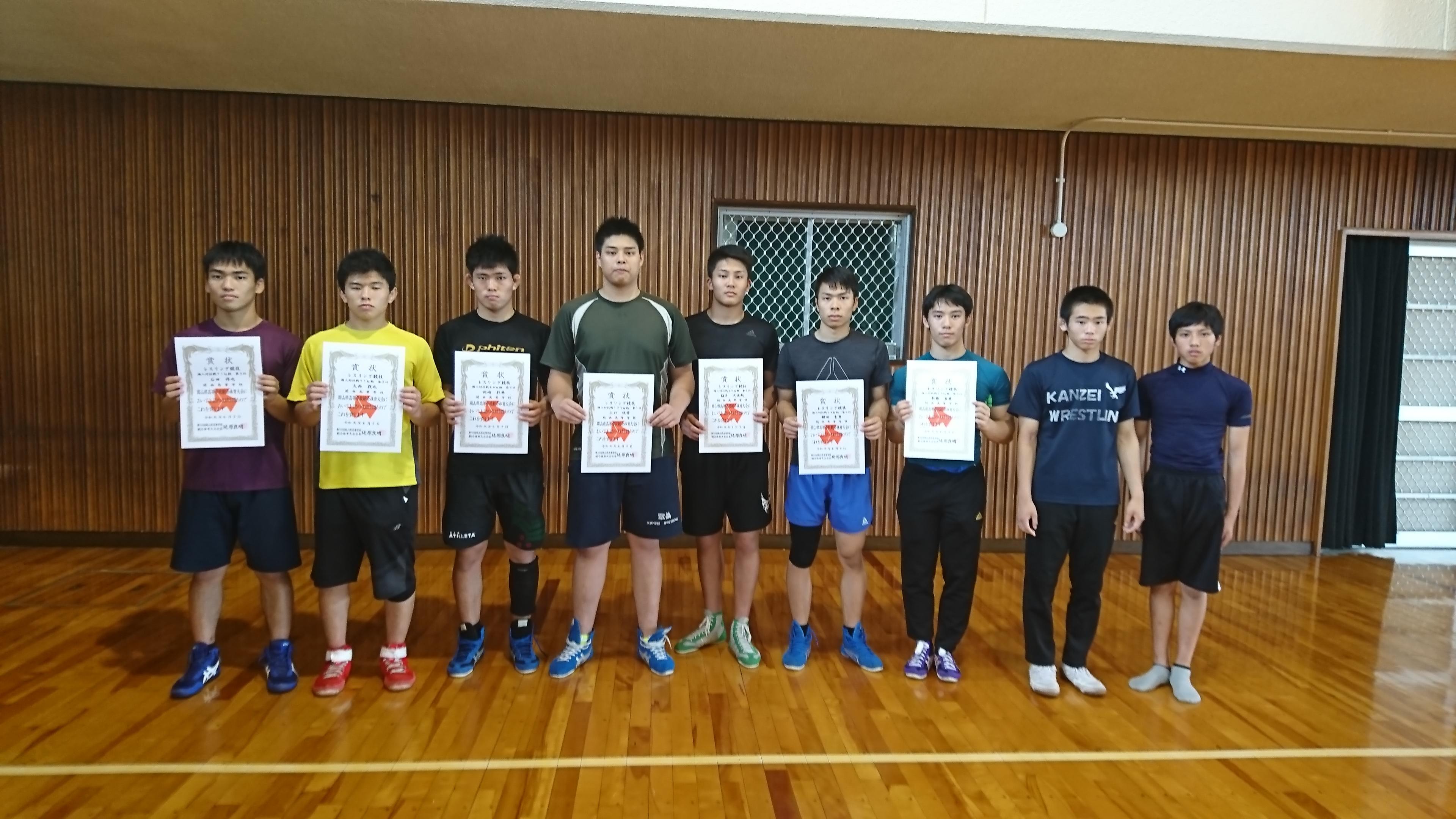 岡山県高校総体レスリング競技