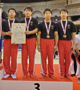 インターハイ体操男子において団体総合で3位、個人総合でも3位入賞しました!