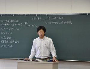 大学から先生をお招きして出張講義して頂きました。
