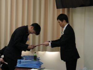 卒業証書授与と敢為表彰を行いました!