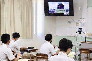 普通科3年・オンライン進路ガイダンスを実施!