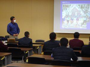 体育進学コース(1年生)対象、倉敷芸術大学出張講義