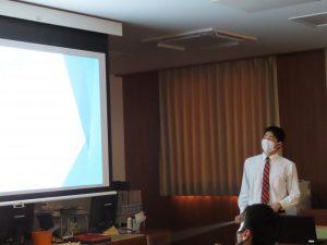普通科1年体育進学コースの生徒がスポーツ演習の授業で発表会を行いました。