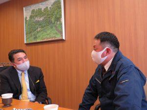 岡山イノベーションコンテスト2020にて審査員特別賞を受賞された、本校OBの蓬郷 健さんに御来校いただきました。