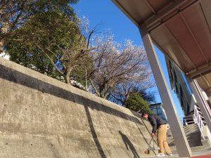 硬式野球部の清掃活動で関西高校の朝が始まります!
